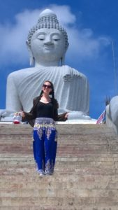 Image of myself in front of Big Buddha in Phuket, Thailand, February 2017